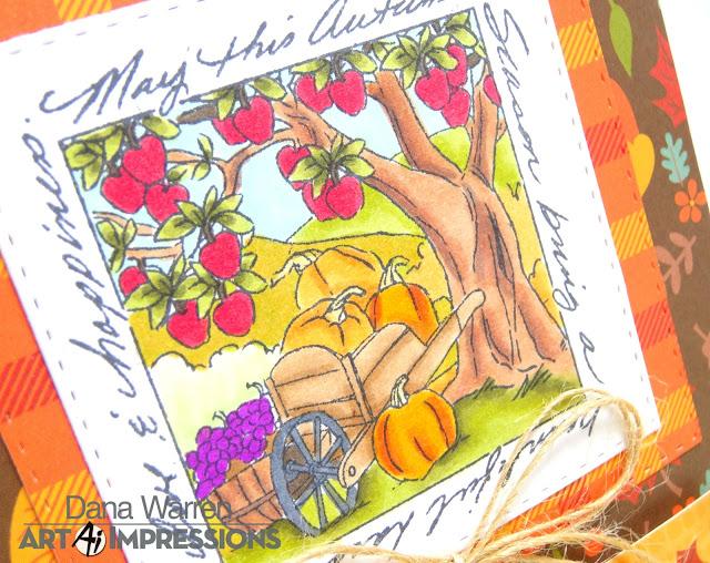 Dana Warren - Kraft Paper Stamps - Art Impressions - Spectrum Noir Markers