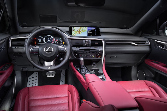 Interior view of 2016 Lexus RX 350 F SPORT