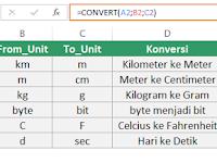 Cara Menggunakan Fungsi CONVERT di Excel