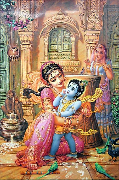 Cute And Happy Wallpapers Lord Krishna Leela Story Birth Amp Growth Illustration