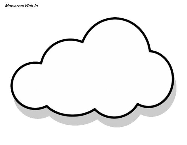 sketsa mewarnai awan dunia mewarnai