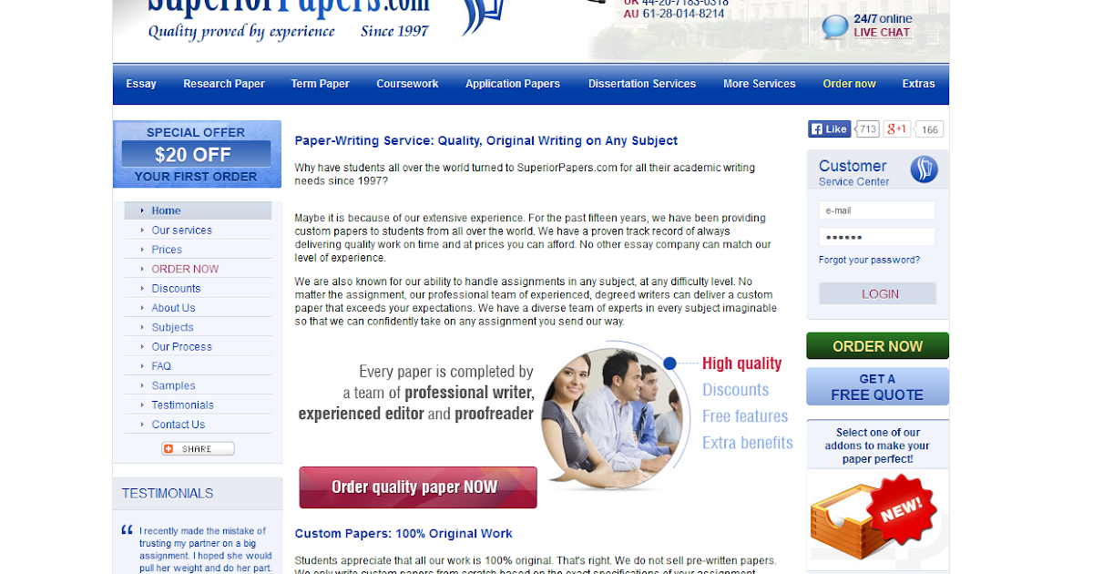 Superior Papers - Professional Writing Services at an Affordable Price