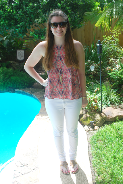 Wearing White Jeans & Having Pink Dreams by popular Houston lifestyle blogger, Breakfast at Lilly's