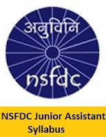NSFDC Junior Assistant Syllabus