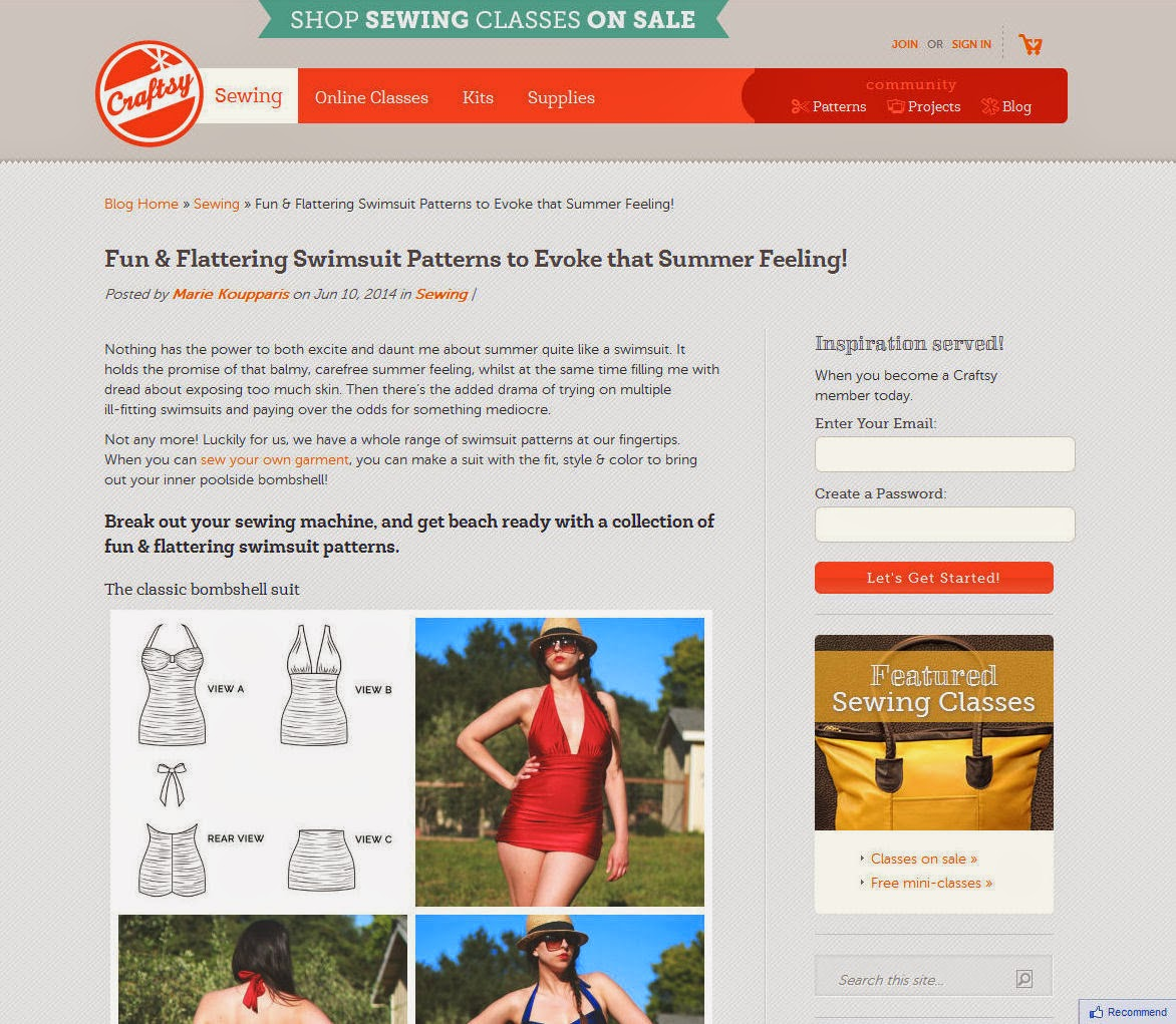abb988e253 Fun   Flattering  Swimsuit Patterns to Evoke that Summer Feeling! You can  also catch up on all my Craftsy posts here. P.S. Hands up who s excited for  the ...