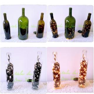 garrafas com pisca