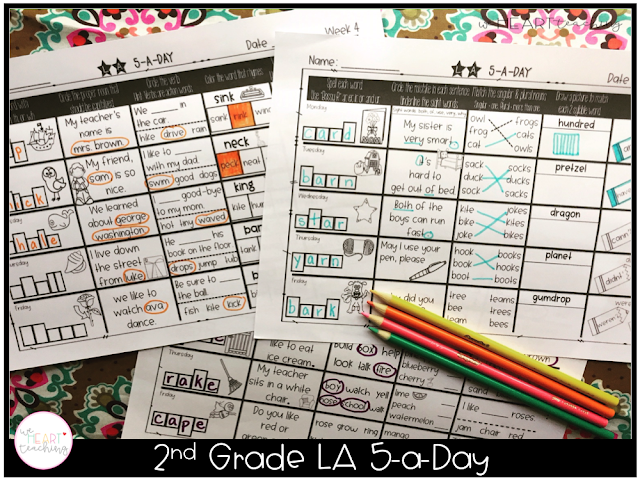 https://www.teacherspayteachers.com/Product/5-a-Day-LA-2nd-Grade-Weekly-Spiraling-Review-Great-Morning-Work-3295696