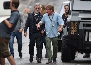 Spielberg durante el rodaje de Ready Player One