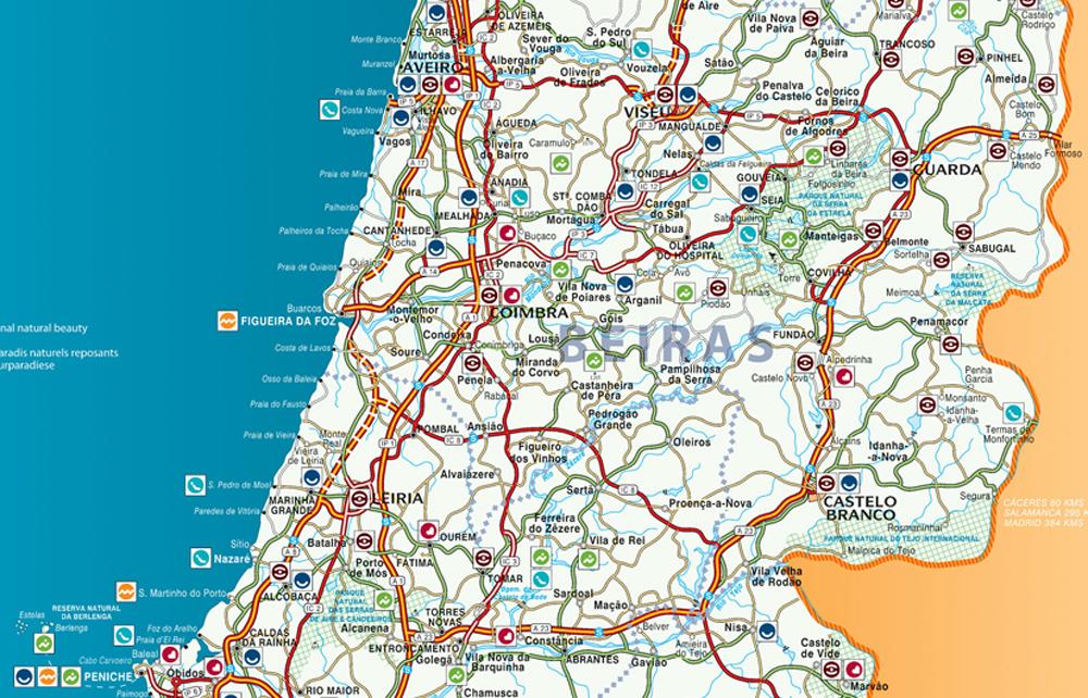mapa norte e centro de portugal Mapas de Coimbra   Portugal | MapasBlog mapa norte e centro de portugal