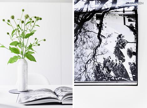 Blumendeko mit Disteln