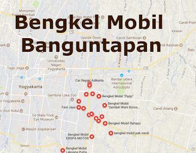 Alamat Bengkel Variasi mobil Banguntapan, Bantul