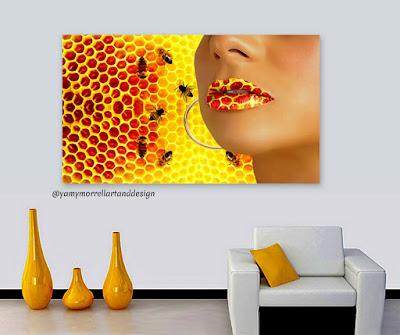 woman-honey-bee-lips-art-by-yamy-morrell