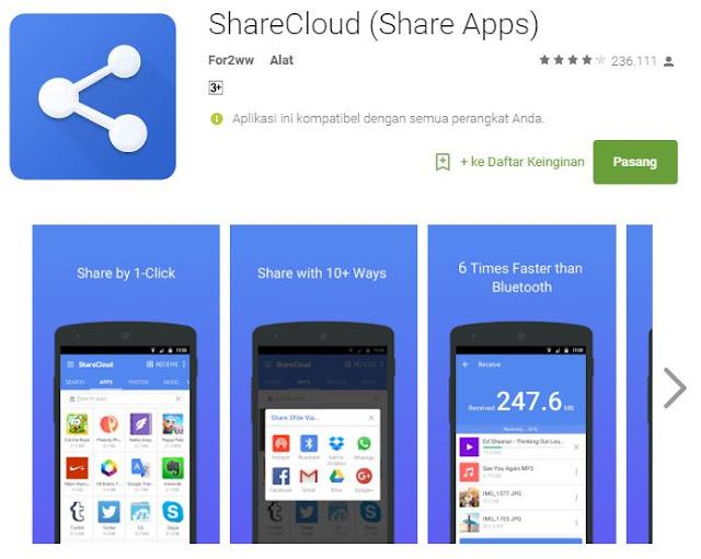 6 aplikasi Android terbaik transfer file dengan sekejap - ShareCloude