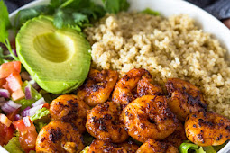SHRIMP AVOCADO QUINOA BOWLS
