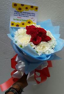 buket tangan mawar kayon surabaya1