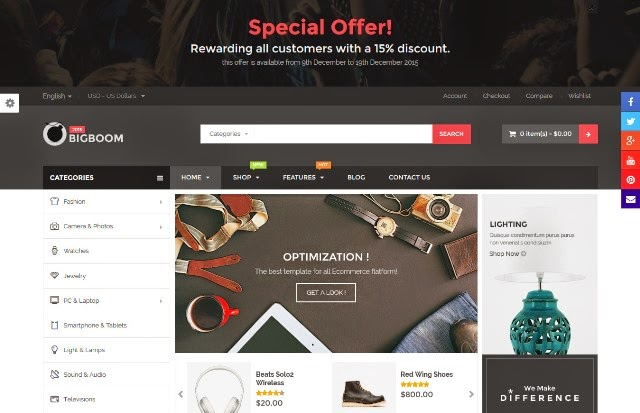 Bigboom - Responsive Ecommerce Wordpress Theme