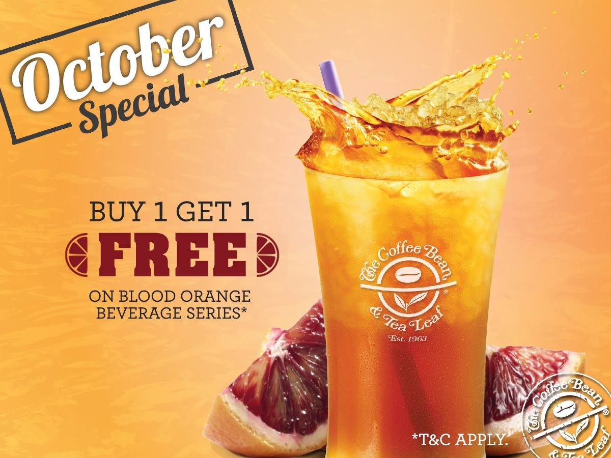The Coffee Bean & Tea Leaf Buy 1 Free 1 Blood Orange ...