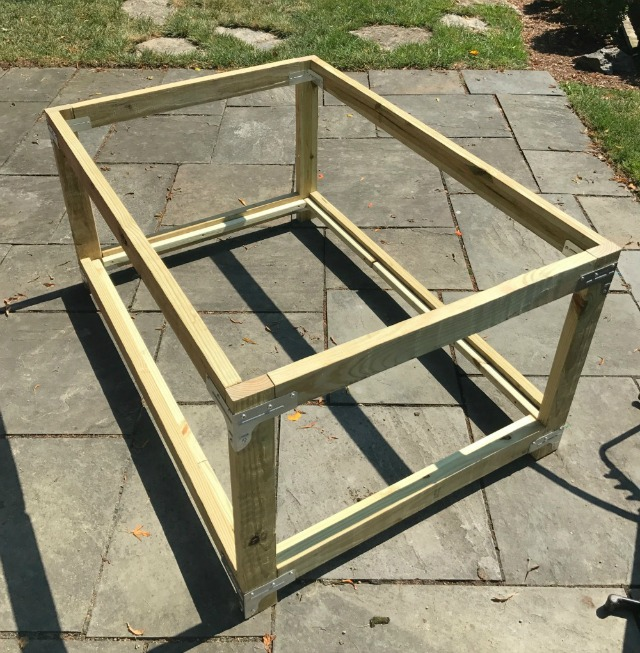 outdoor toy storage bin frame