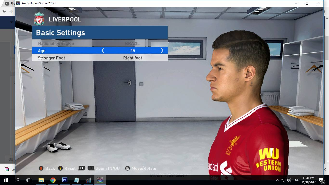 PES 2017 P. Coutinho Face by Shenawy