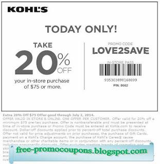 Kohl's charge coupon code