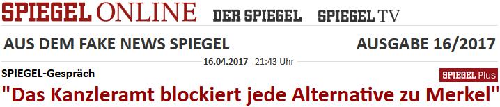 Kanzleramt blockiert jede Alternative zu Merkel