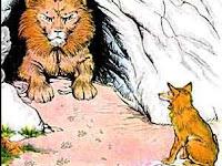 Bacaan Cerita Dongeng Anak singkat | Cerita pendek kisah Singa dan Rubah yang cerdik