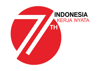 Logo HUT RI ke 71 Vector