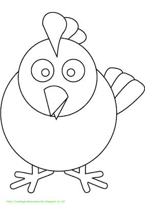Gambar Mewarnai Ayam - 6