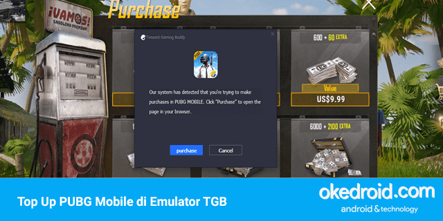 tips cara top up uc unknown cash PUBG Mobile pakai via dengan pulsa di emulator Tencent Gaming Buddy pc