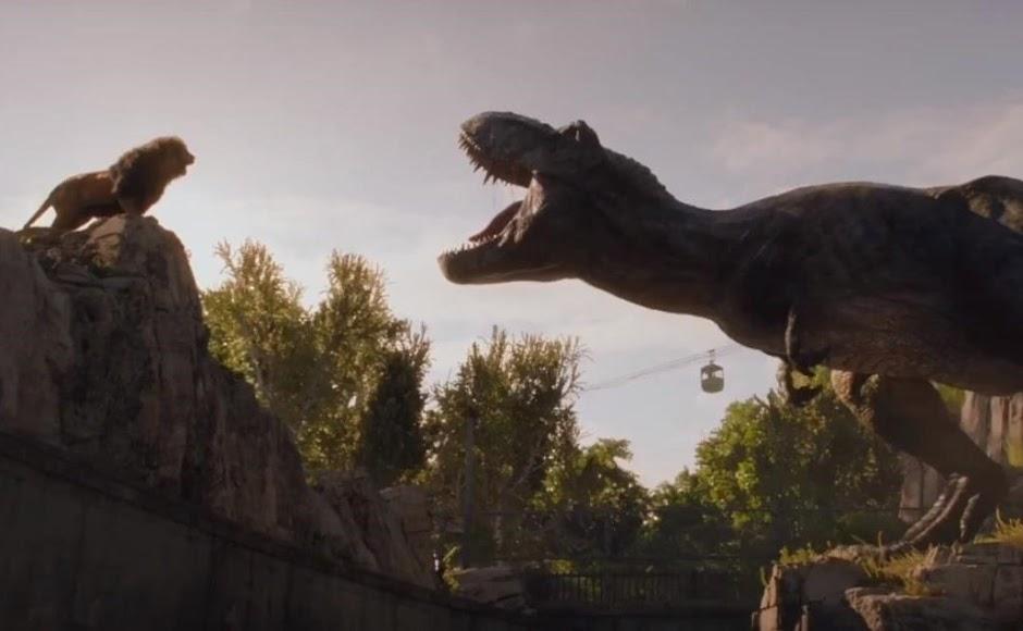 """T-Rex vs Leão no comercial inédito de """"Jurassic World – Reino Ameaçado"""""""