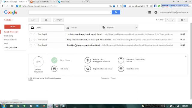 Tampilan Gmail