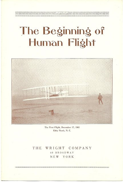 The Wright Company brochure for 1916 MIT display of Wright Flyer