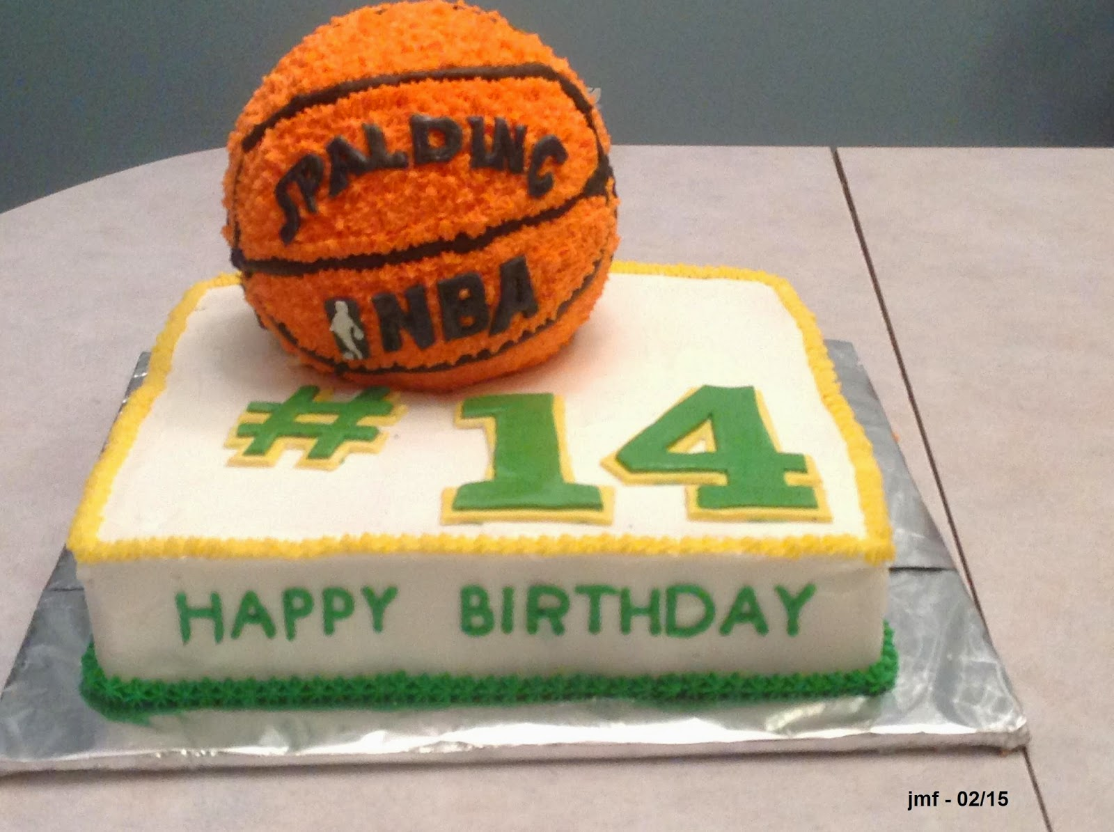 Jens Crafts and Cakes Basketball Cake