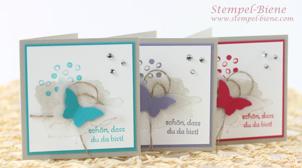 stempel biene eine schnelle dankeskarte mit stampin 39 up happy watercolor. Black Bedroom Furniture Sets. Home Design Ideas