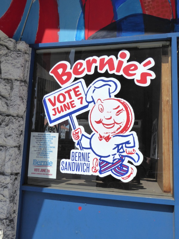 Bernie's Coffee Shop cartoon window