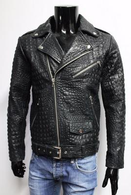 Gambar jaket kulit buaya asli