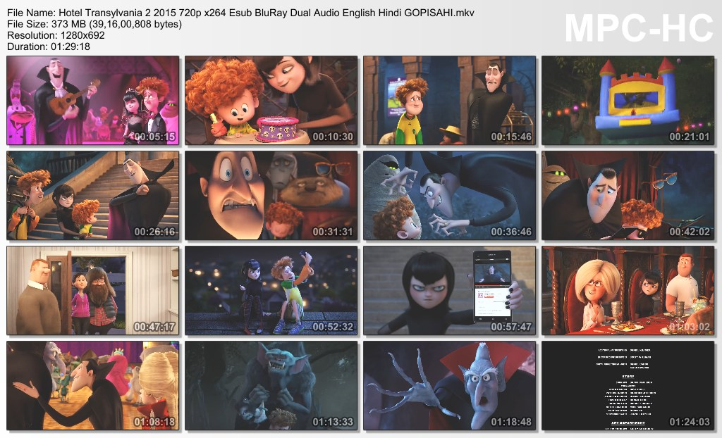 Hotel Transylvania 2 (2015) 480P 720P Hindi English Dual Audio