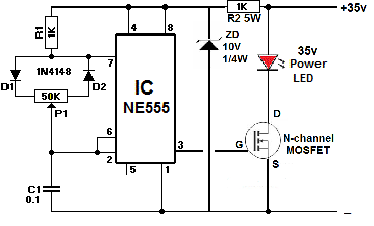 high dc voltage pwm dimmer