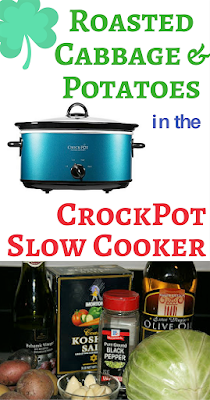 Roasting Cabbage and Potatoes in the crockpot slow cooker is a great way to make this classic St. Patrick's day side dish for your dinner on March 17! I like to cook my corned beef separately from the cabbage and potatoes so everything doesn't taste the same!