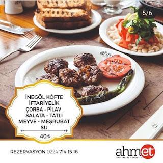 ahmet inegöl köftesi menü fiyatları inegöl köfte fiyatları bursa ramazan menüleri 2019