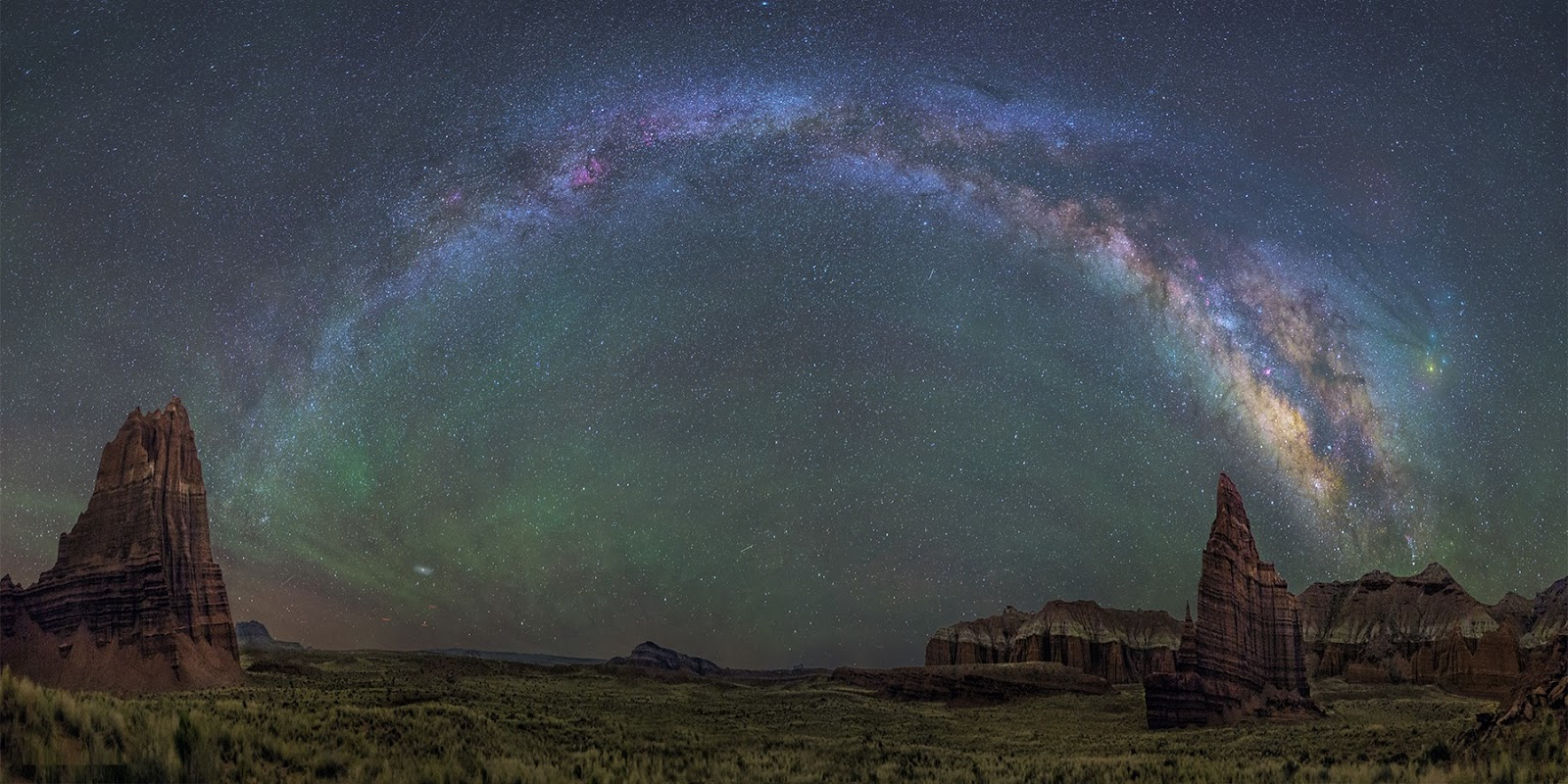 The Milky Way Galaxy over Capitol Reef National Park