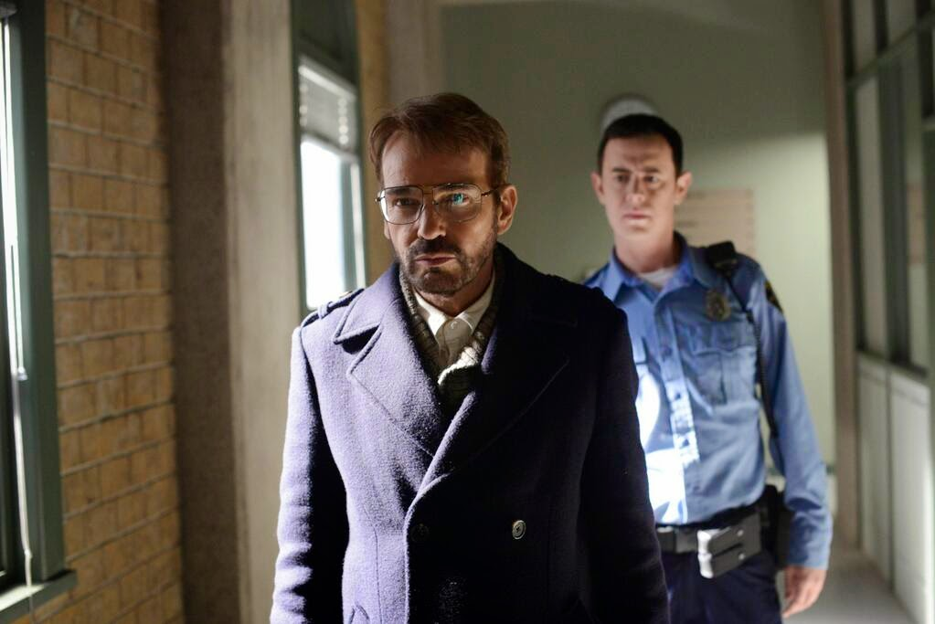 Billy Bob Thornton as Pastor Frank Peterson with Colin Hanks as Gus Grimly in Fargo Season 1 Finale Episode 10 Morton's Fork
