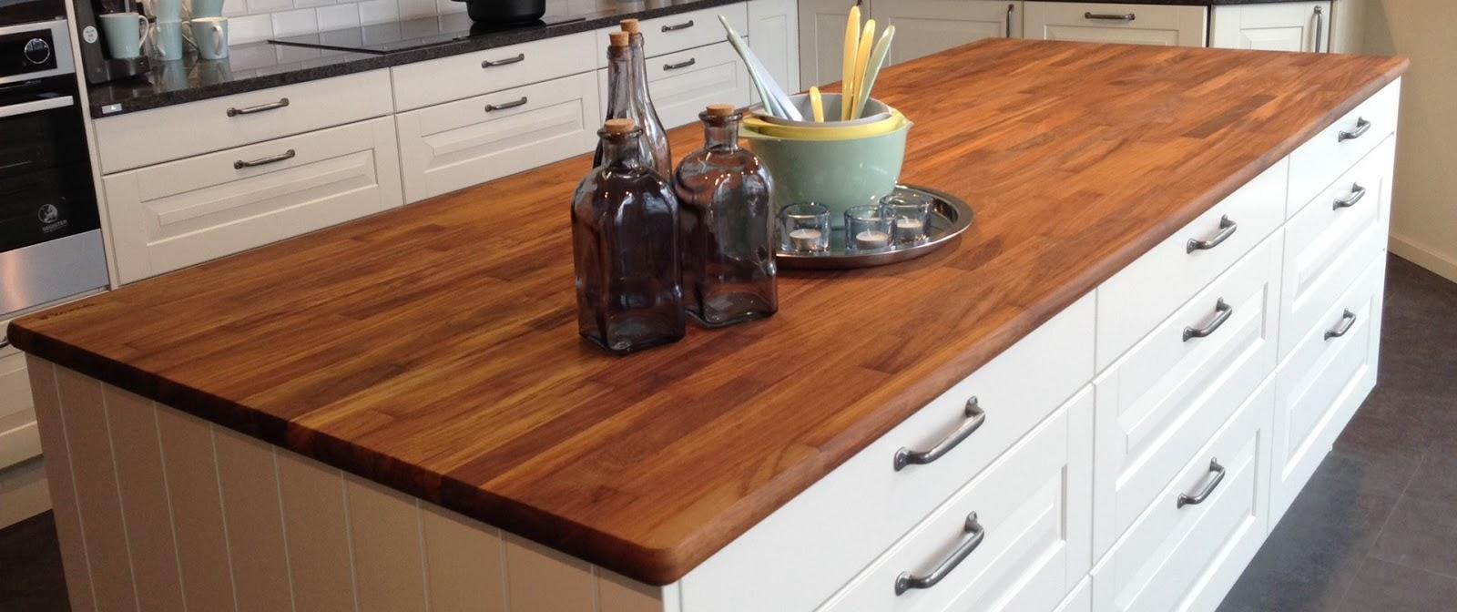 El estilo casa de campo en la cocina reformas guaita - Encimera madera maciza ...