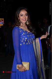 Telugu Actress Tejaswi Madivada Pos in Blue Long Dress at Nanna Nenu Na Boyfriends Audio Launch  0038.JPG