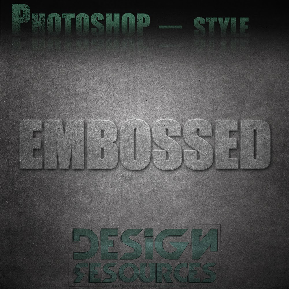 Embossed Photoshop Styles