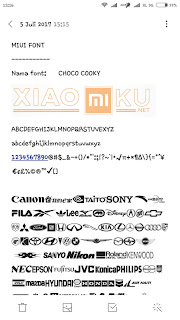 font rekomendasi xiaomi - choco chooky