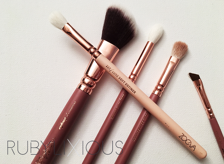 makeup brushes, zoeva
