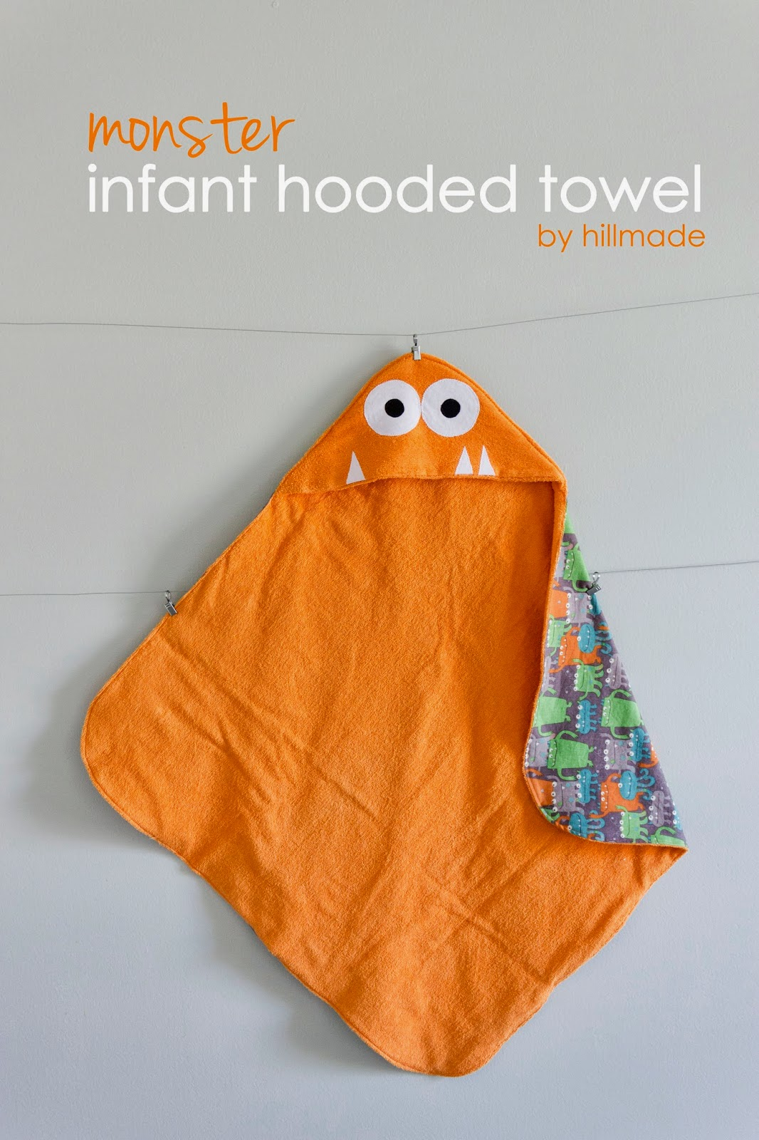 Monster Infant Hooded Towel Tutorial