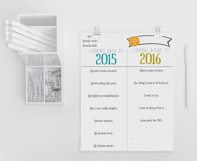 New years resolutions printable