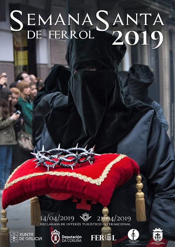 La Hermandad del Santo Entierro protagoniza el cartel de la Semana Santa ferrolana de 2019